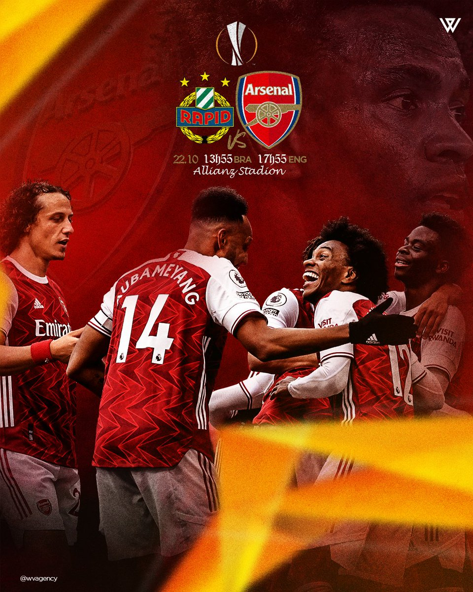 Today I'll not be able to be in the field, but I'll be supporting you guys! Good game and God bless you! 🙏 #arsenal #europaleague #gunners #W12