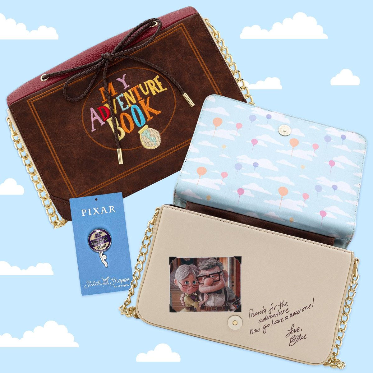 ☁️🎈☁️ We have a VERY special announcement today! We know how much you all loved the @stitchshoppebyloungefly Up! crossbody bag and asked for its return...so we listened!! Now available on bit.ly/35j4cCI! ☁️🎈☁️ #Loungefly #Pixar #StitchShoppeByLoungefly