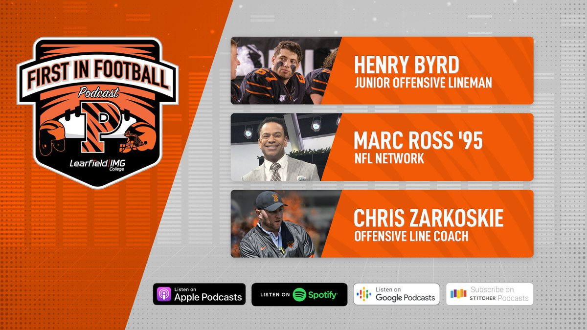 #FirstInFootball is back! This week, @CodyChrusciel is joined by #NFLNetworks @MarcRoss 95, Junior OL @Henbyrd, and OL Coach @CoachZar! 🔊➡️ bit.ly/2HrsAK2