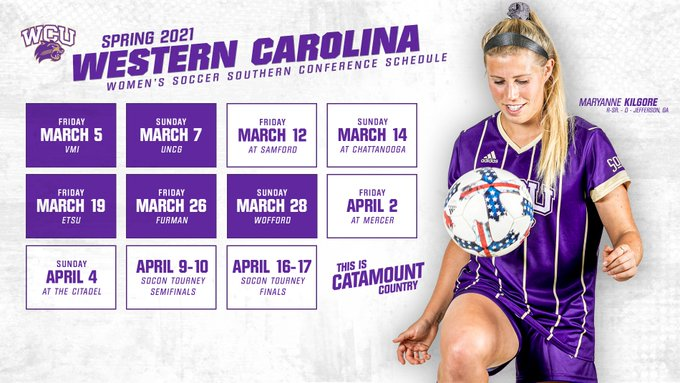 2021 WCU Soccer Conference Schedule