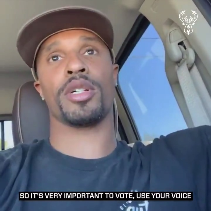 """""""If you want your voice to mean something, you need to get out there and vote."""" - @George_Hill3  Find out where you can cast your ballot at https://t.co/5EMIqbtQiF 🗳 https://t.co/6s3q0ekggK"""