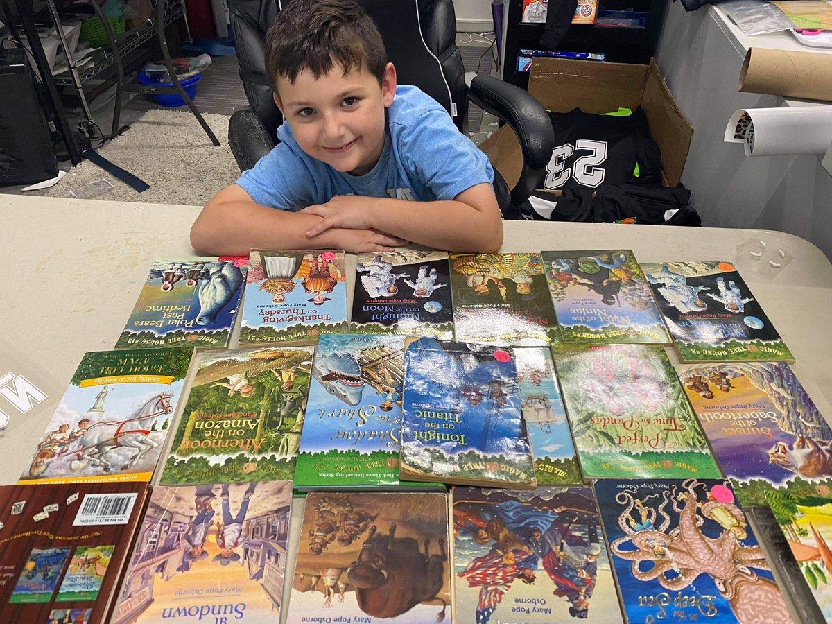 One happy reader @DISDYoungLib #10yearsYoung #bookfix #booklove #kidsneedbooks