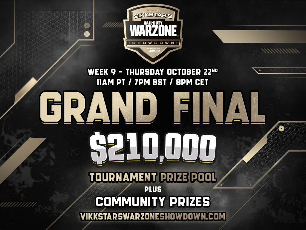 $50,000 Finals for my Warzone Showdown is tonight! 90 minute kill race into bracket play for top 4 teams! vikkstarswarzoneshowdown.com #CodPartner #Warzone