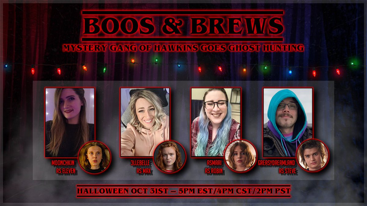 ASMari - Oh boy howdy! The Hawkins gang is going ghost hunting. Check out my crew I get to bring along!! Come hang with us on Halloween!!