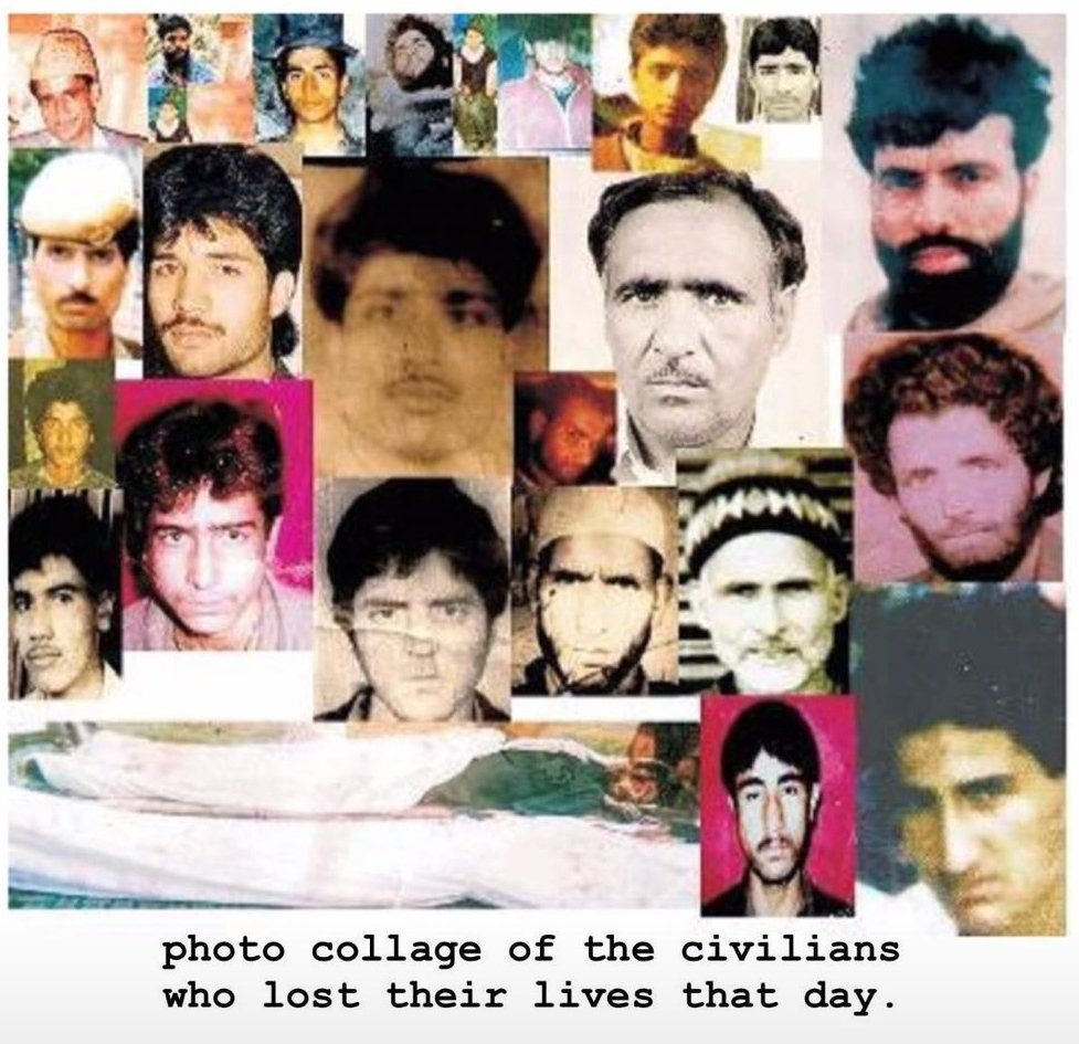 THREAD!👇  On this day, 27 yrs ago, in the afternoon of 22 Oct 1993, jawans from the BSF opened fire in Bijbehara town at protestors during a peaceful protest, killing 43 civilians & left 100s of them physically handicapped 4 life. #KashmiriLivesMatter #KashmirBleeds   @brumbyoz