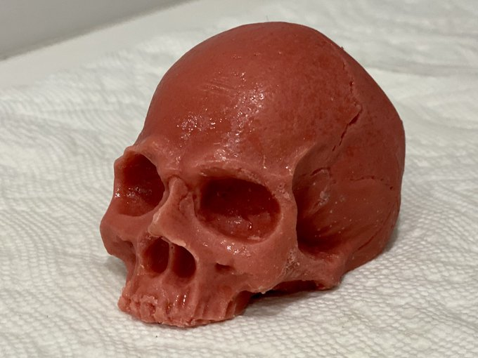 Bonfire Goat Milk Skull Soap!!! These are between 5.5 and 6 ounces, significantly larger than my regular