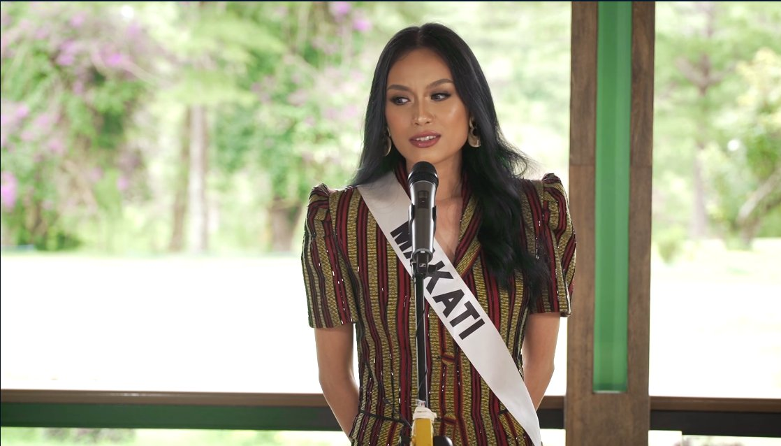@alexavillano Makatis Ivanna Pacis is up next! Ivanna said that if she wins the title, she would like to use her voice in talking about suicide prevention. | via @alexavillano #MissUniversePhilippines2020