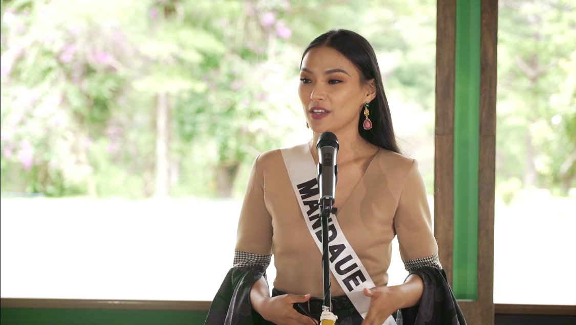 Representing Mandaue City is Lou Piczon. For Lou, one thing she learned in this pandemic is to not take time for granted. | via @alexavillano #MissUniversePhilippines2020