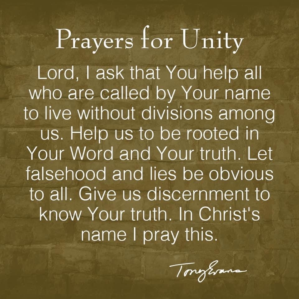 Take a moment to pray today for #unity https://t.co/EfExw0XHxn