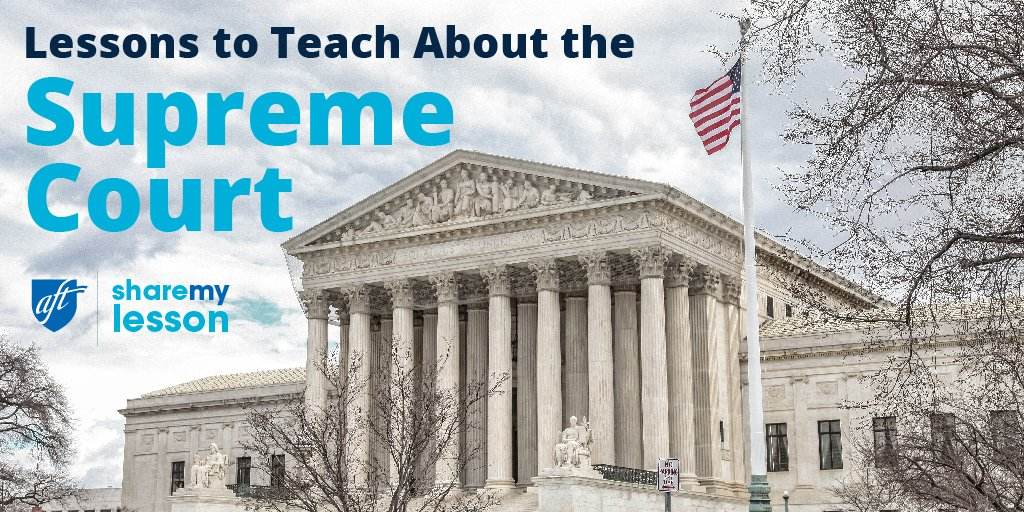 ⚖️ Get the best curated collection of free teaching resources about #SCOTUS 🏛️and:  >Remembering #RBG >Judicial Review & Checks & Balances >Nominations & Current Events >The Bill of Rights >The 14th Amendment & Equal Protection https://t.co/ZSngMZNnBz #EdChat @AFTunion @AFTteach https://t.co/kCYDvyc4MO