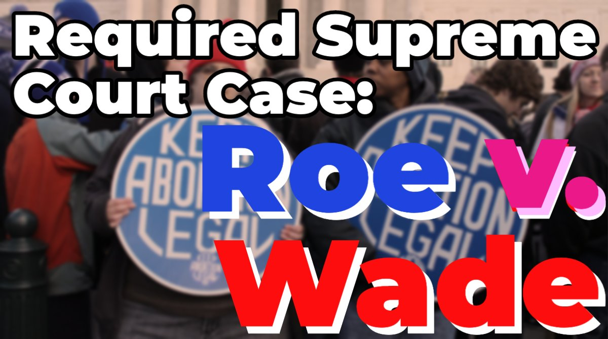 #RoevWade. You've probably heard this term a lot lately. If you're taking #APGov, Roe v. Wade is a required #SCOTUS case. In our latest YouTube video, @TomRichey breaks down the facts of the case.  https://t.co/Xe69vj2UAw  #supremecourt #rbg #apgovernment #uspolitics https://t.co/NsLjTCRe8R