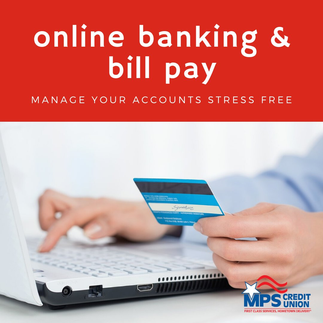 How do you handle your banking? Learn more about online banking, mobile banking and bill pay by clicking on the link.  #onlinebanking #mobilebanking #billpay #mpscu #bankfromhome