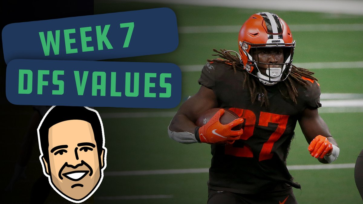 Looking for a value play to plug into your DFS lineup this weekend?  @LateRoundQB joined @MoreWaysToWinTV today to give out his top 3 values for Week 7 👀 https://t.co/Qe8dy4aTgn
