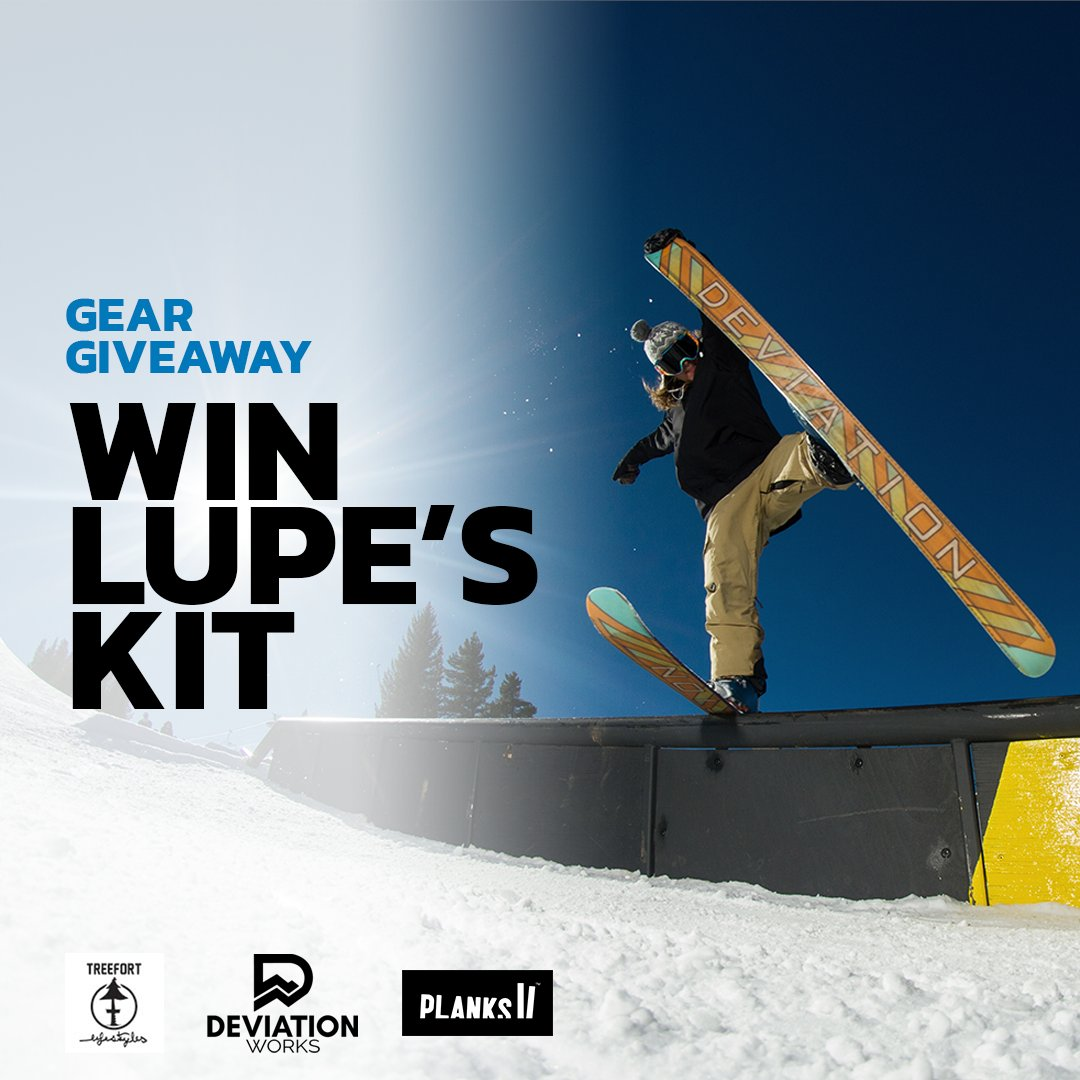 Get fully kitted with Lupe's gear from @PlanksClothing @treefortls & @deviationworks! Learn how to win now: https://t.co/N4TzKSR5W0 #giveaway #win #skis https://t.co/shfRLe6vEY