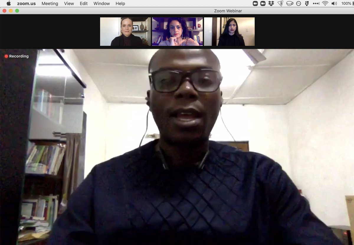 @JSchool_CU @HebaJournalist @TheMFWA @laxmisarathy @AymanMhanna @hgilberds @SK_Eyes @CovidJourno Now @sulemana from @TheMFWA talks about his organizaiton's work in #MediaDev in West Africa. Notes that #digitalrights is now a key line of work in their effort to protect freedom of expression and #pressfreedom. #JournalismInCrisis https://t.co/5TTvWJPiOJ