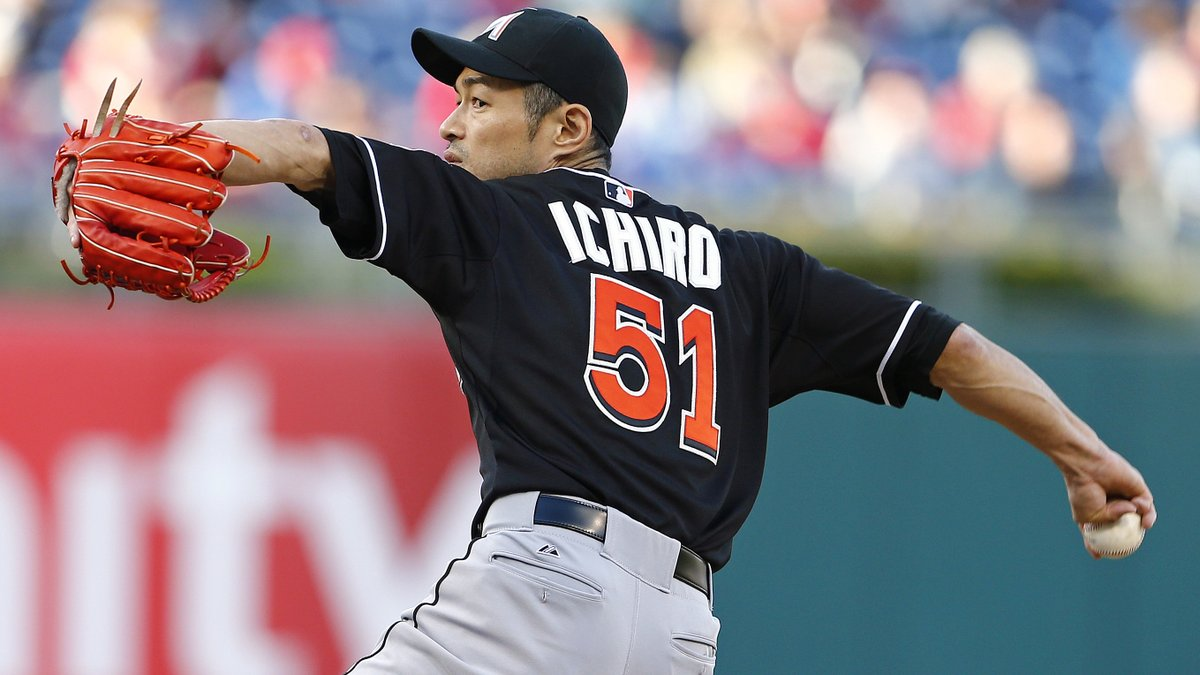 Happy 47th birthday to the great Ichiro!  Let's flashback to the lone pitching performance of his 19-year MLB career. https://t.co/yJBxdcYKp5