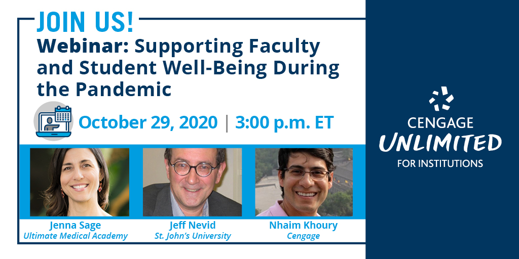 October 29 - Join us tohear how #highereducation leaders are supporting themselves and their communities' health and wellnessduring these uncertain times, with guidance from the CDC and othervital resources >> https://t.co/nDddVrZDCx https://t.co/g5bj2vyFM6