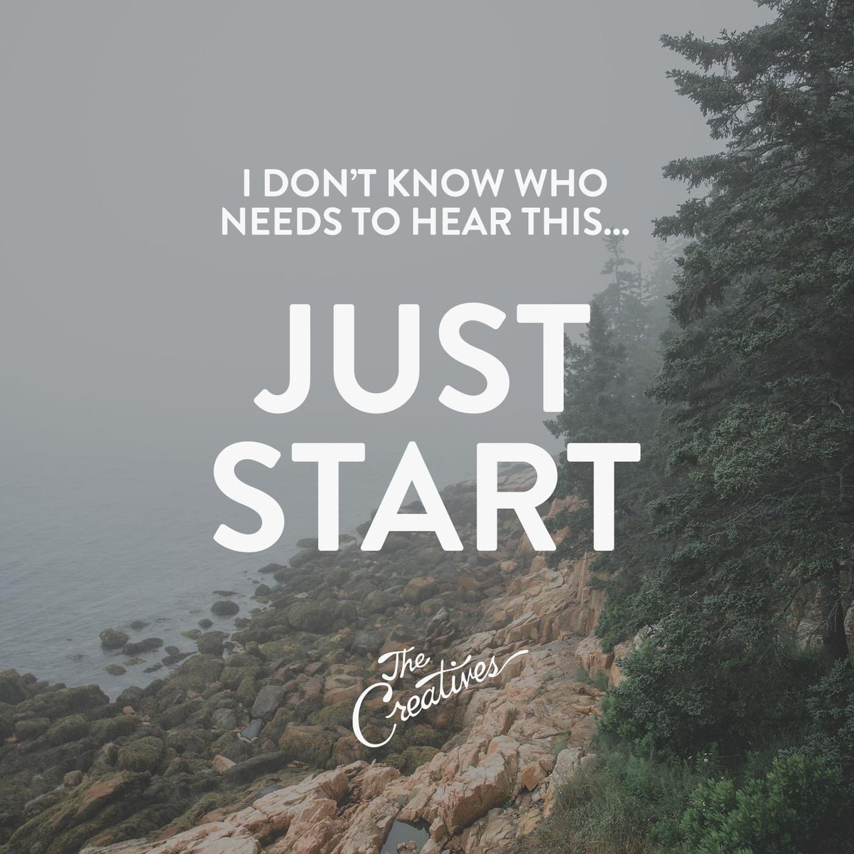 I don't know who needs to hear this... just start. #creativity #motivation https://t.co/ncSAgO0rlq