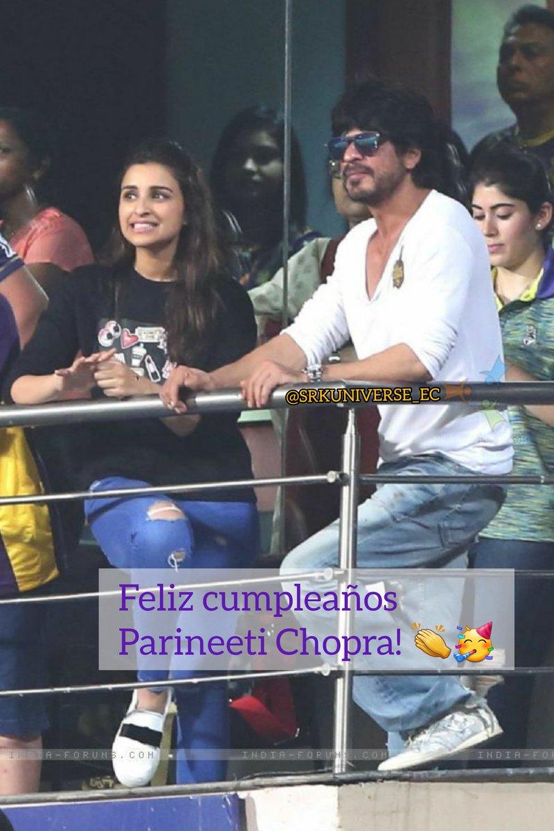 #HappyBirthdayParineetiChopra 🥰🥳🥳🥳 #ShahRukhKhan #ParineetiChopra #Parineeti @iamsrk  @ParineetiChopra