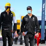 Smiling under the mask thinking about the track 😎🔥 tomorrow we start !🇵🇹 #EO31 @RenaultF1Team