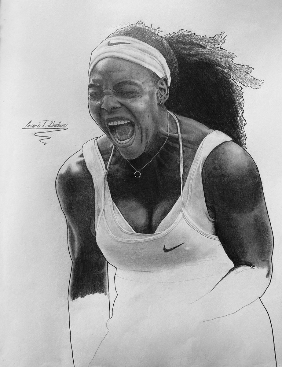 Halfway done with my drawing of @serenawilliams✍🏾🎾💯