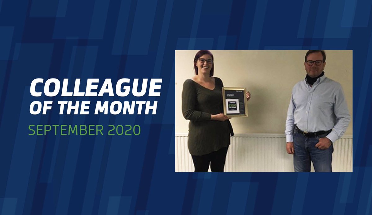 // COLLEAGUE OF THE MONTH //  Congratulations to our Accounts Administrator Claire Pratt, who did Pitreavie proud in September by displaying our core values of #passion #innovation and #care.  To find out more about Claire's award please visit https://t.co/0V8A40frRb https://t.co/dOxTcBgde7