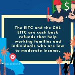 Image for the Tweet beginning: How does the #CalEITC help