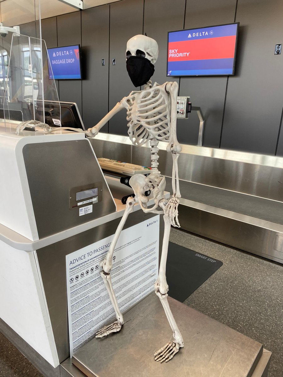 Wow! Red weighs a skele-TON! 💀 #RedSkeletonICT #AirportTwitter https://t.co/j88jlIc2ga