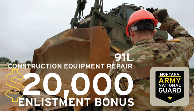 Construction is one of the fastest growing industries in Montana.  Give yourself experience that will put you ahead of the game as a 91L - Construction Equipment Repairer.  For more information visit  #military #goguard