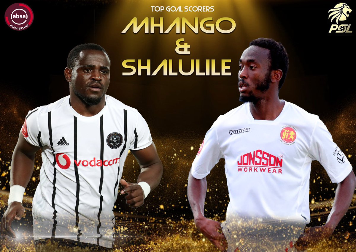 MHANGO AND SHALULILE!!!   Absa Premiership Top Goalscorer of the Season: Gabadino Mhango of and Peter Shalulile.   #PSLAwards20 #FARPost https://t.co/sqLBDw3P7I