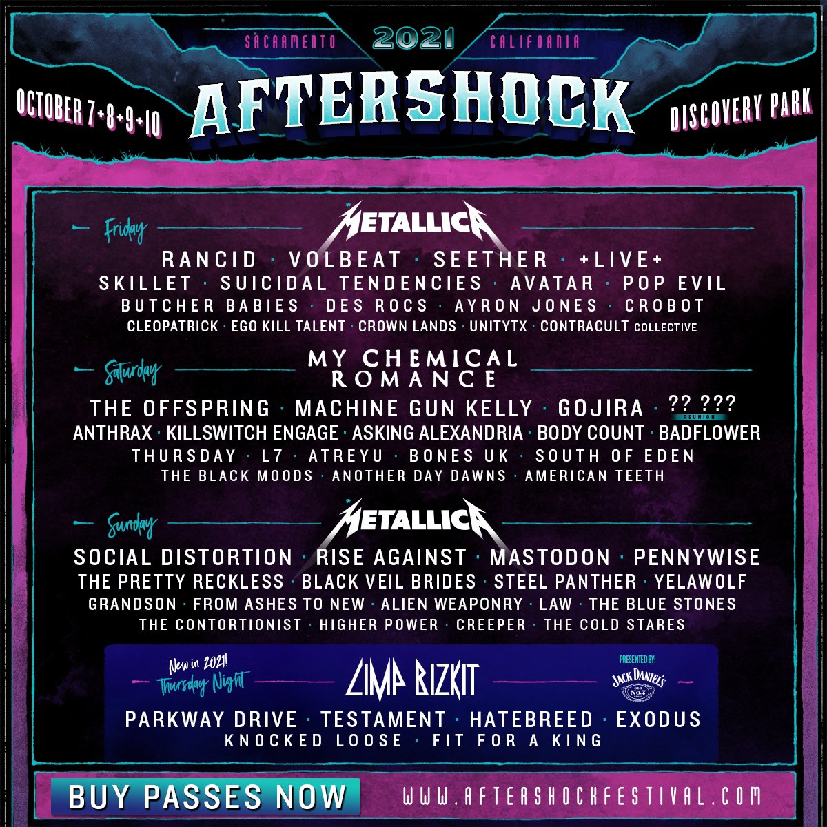 Hell yeah, Sacramento. We're coming out to #Aftershock 2021. Get full details and tickets now at . 👊🏻