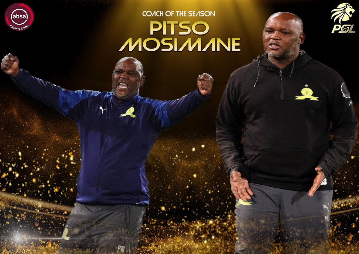 PITSO!!!  Absa Premiership Coach of the Year: Pitso Mosimane (R75 000)  #PSLAwards20 #FARPost https://t.co/ZeMjxmbvMJ