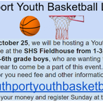Image for the Tweet beginning: Southport Youth Boys' Basketball Info