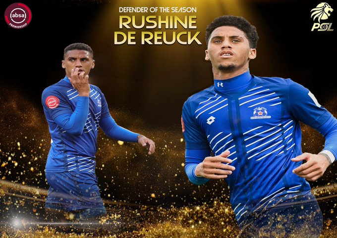 Rushine De Reuck is the ABSA Premiership Defender Of The Season! Congratulations Rushine! #PSLAwards #PSLAwards20 #Diski365 https://t.co/eFgEo5hUiG