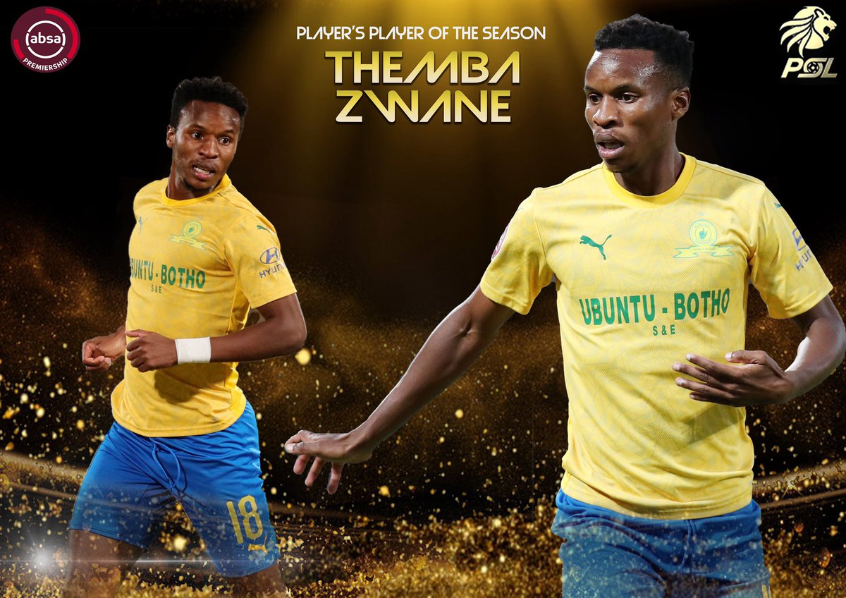 ZWANE!!!   Absa Premiership Player's Player of the Season: Themba Zwane (R200 000)  #PSLAwards20 #FARPost https://t.co/3mkS75yIZq