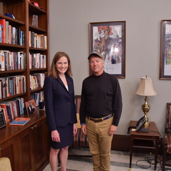 Yesterday I returned from celebrating my 30th wedding anniversary just in time to meet with Amy Coney Barrett. I believe she will make an excellent justice that will serve our country and Constitution well, and I look forward to seeing her confirmed soon.