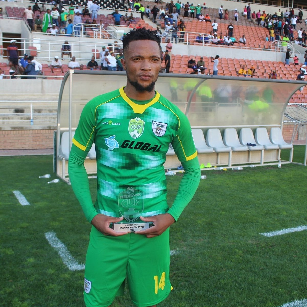 """Sincere congratulations on your hard-earned success.""  Congratulations to Absa Premiership Young Player of the Season Goodman Mosele @basesoccer #SSG"