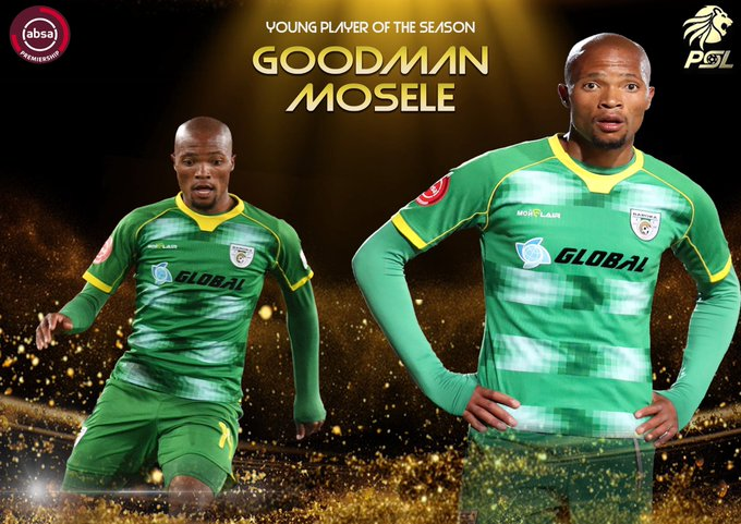 Goodman Mosele is the ABSA Premiership Young Player Of The Season! Congratulations Goodman! #PSLAwards #PSLAwards20 #Diski365 https://t.co/QjQQsmo6xi