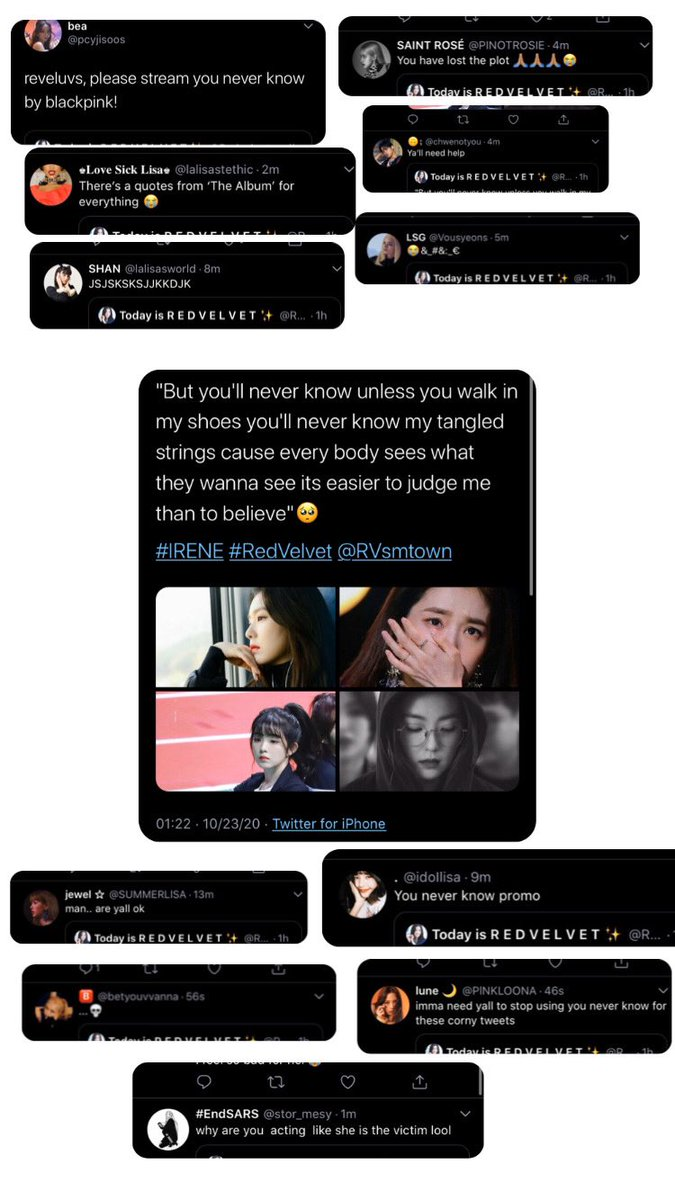 U do not know the story. I no longer know blinks. DON'T KNOW  the word RESPECT . if that happens, one of the bp  members i know you do the same. I respect BLACKPINK. They are the 3rd GG that i Stan. So please blonks stop being like this. I'm so disappointed   #Blinks #Reveluvs https://t.co/ictu6YVMOf
