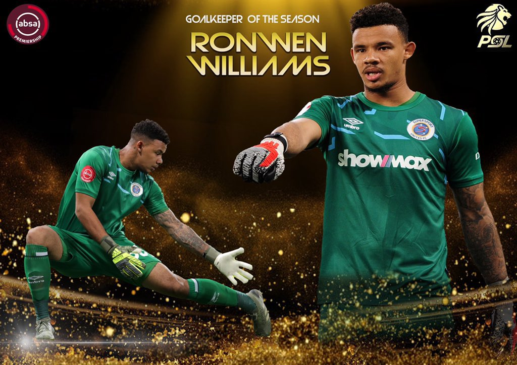 Absa Premiership Goalkeeper of the Season: Ronwen Williams  Akpei stood no chance, Chief's scouting team should introspect  #PSLAwards20 #PSLAwards https://t.co/ekeIFdanGC