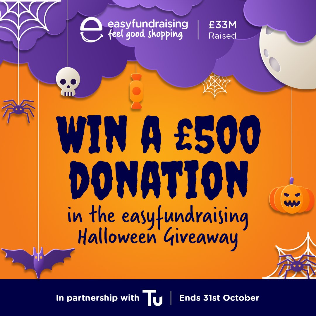 👻 Enter the Spooktacular  @easyuk Halloween Giveaway for a chance to win a £500 donation for your club! Just register with easyfundraising first: https://t.co/Eaqqn02yd0 - then visit the Halloween Giveaway page to enter for free before 31st October! 🎃 #ReturnToPlayLLR
