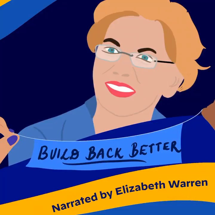 I'm always talking about my plans to build back better for all Americans. But what does that really mean for you and your family?   Watch as @ewarren helps explain: https://t.co/ti7QJCU7j0