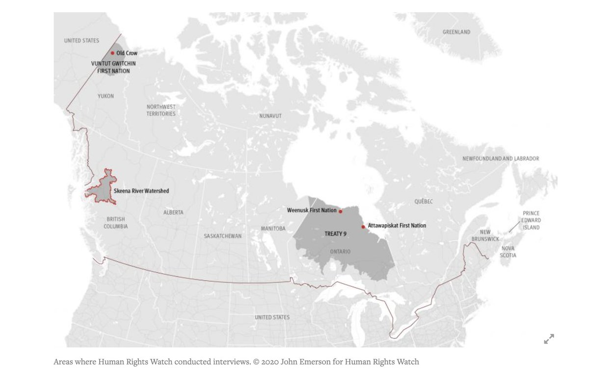 Canada—a top 10 GHG emitter—is fueling a #ClimateCrisis that is already taking a toll on First Nations, depleting food sources, affecting health. Canada should act now to curb emissions & ensure communities have resources needed to adapt. hrw.org/news/2020/10/2…