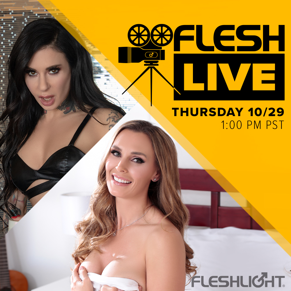 We'll do it live! Tune in to next week's Fleshlive and hang out with our host, industry icon @JoannaAngel