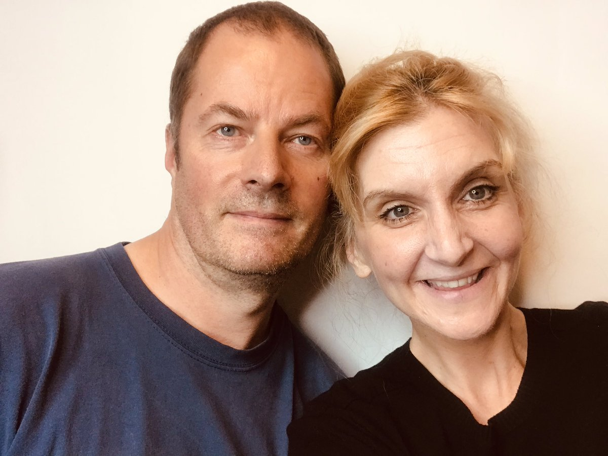 While we still have our studio set up we decided to have a selfie taken of us...Don't we look cute? 🥰 #husbandandwife #selfie #studiotime #thursdayvibes #lookatus #marriedcouple #checkusout 👩❤️👨 https://t.co/CWMXxf1QwH