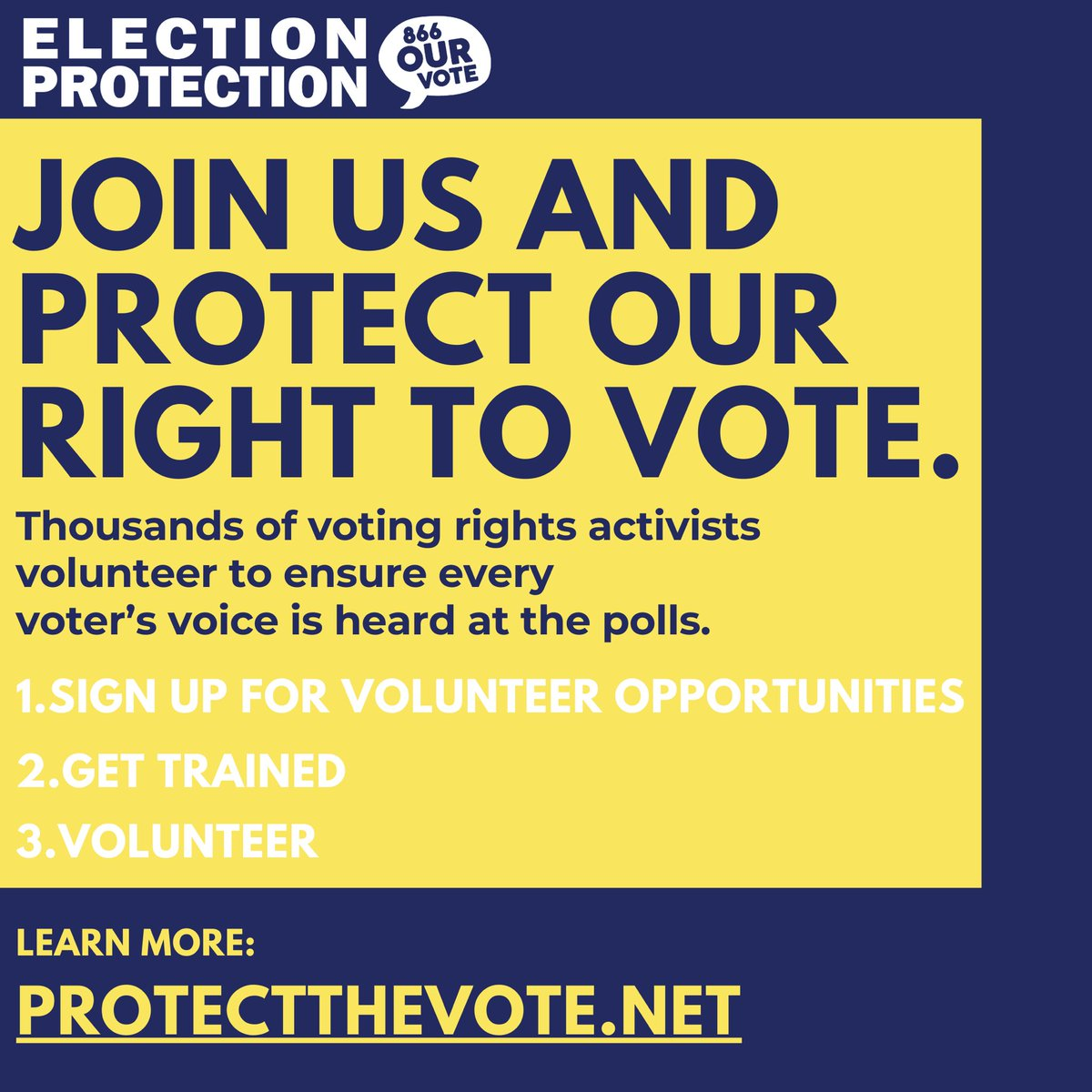 We also need 1000s of non-lawyer volunteers to help protect this election! #ProtectTheVote can find the best way for you to get involved:helping voters from home, assisting voters safely in person, or tracking disinformation online. Sign up today! 🙋🗳️✅ protectthevote.net/?source=gaga