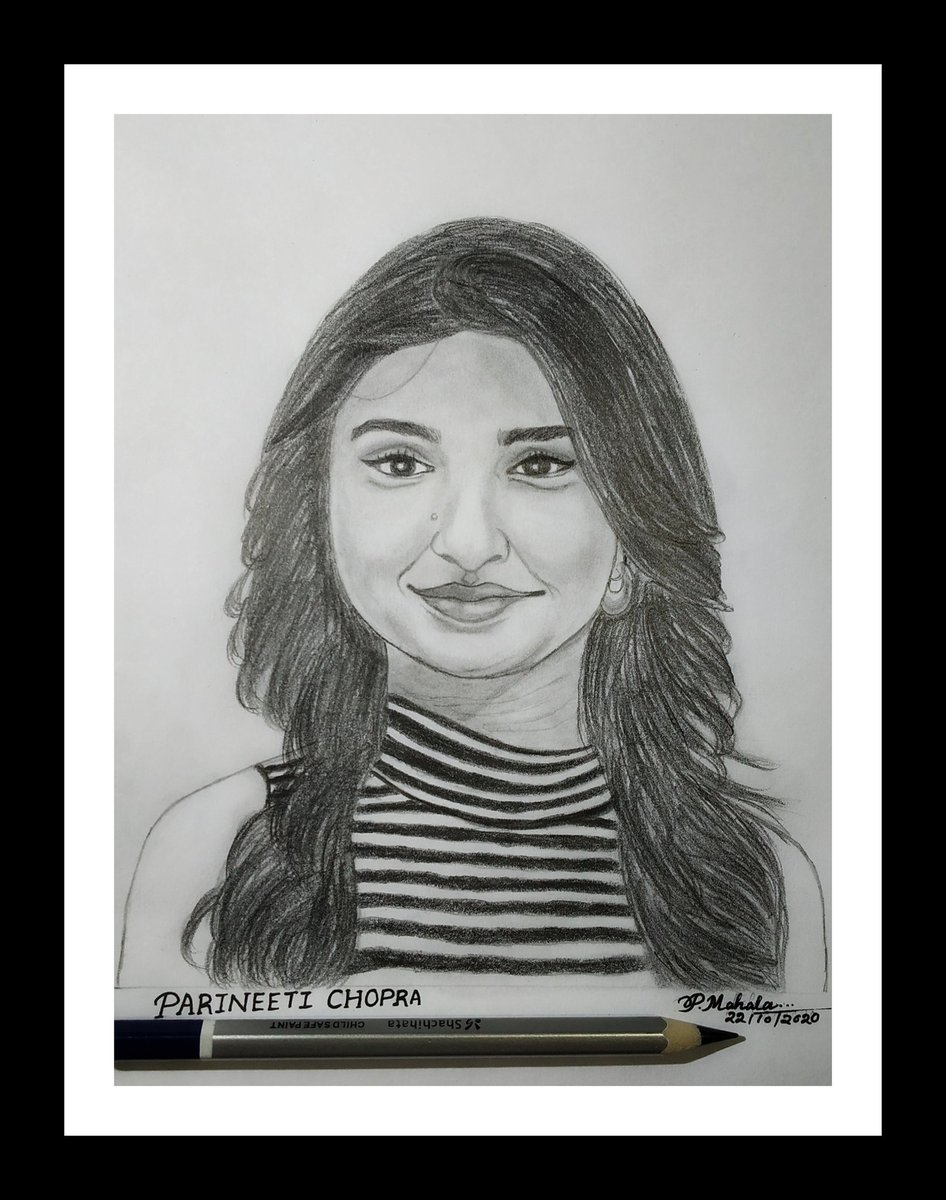 Everything in the world has a limit but my Love for you is limitless ❤️ Happiest Birthday Angel @parineetichopra LoVe YoU 😘😘  #HappyBirthdayParineetiChopra 🎂 This is small tribute art✍️for u my cutie Pari 🧚,hope you like it❤️❤️🎀💐 #myfavouriteactress💃#Pari🧚 #Bollywood_diva