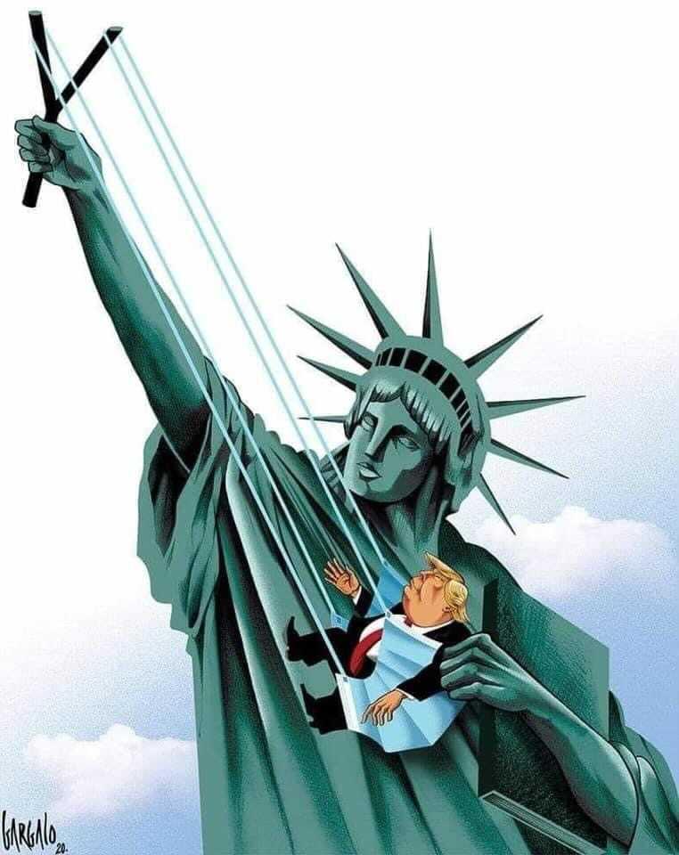 "Rebecca MacKinnon on Twitter: ""Image of the day.  #VoteBidenHarrisToSaveAmerica #VoteEarlyVoteToday… """