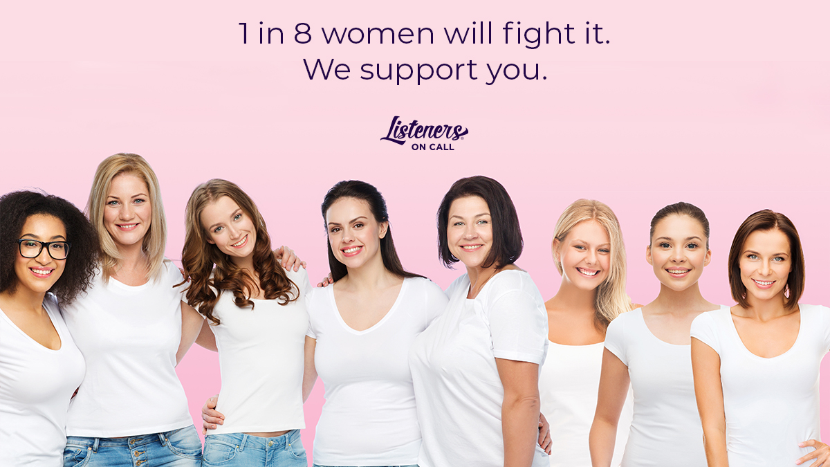 Women are strong. Women are courageous. Women are fighters. We are here to support you! 1 in 8 women will fight breast cancer, but they never have to do it alone. We are here to support you through your journey.  #listenersoncall #breastcancerawarenessmonth #beheard https://t.co/IUodNKtSph