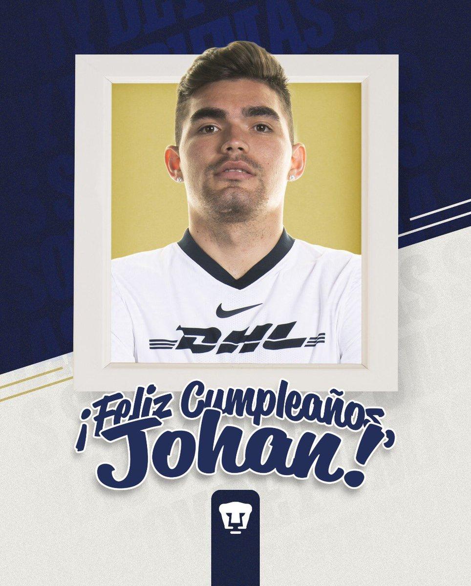 ¡Enviamos un caluroso abrazo virtual y nuestros mejores deseos a nuestro defensa central @Johanvasquez23 que hoy cumple 2️⃣2️⃣ años!   ¡Muchas felicidades! 🥳🥳  #SoyDePumas https://t.co/CdzlH0OA0A